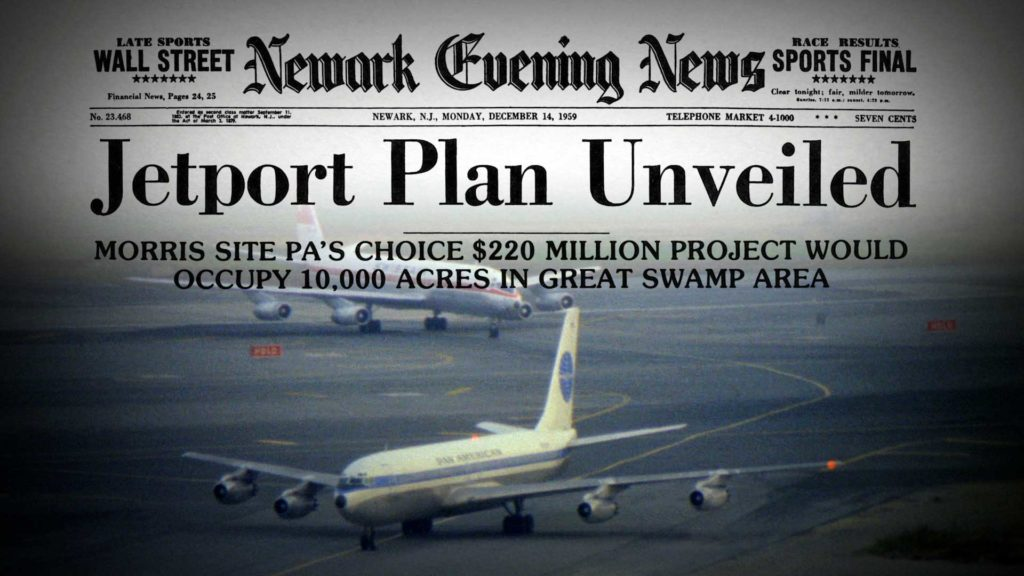 Newspaper headline: Jetport Plan Unveiled